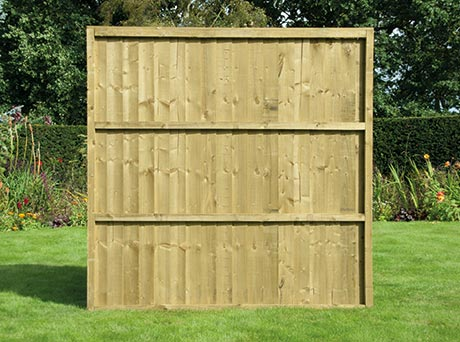 fencing - featheredge panel rear