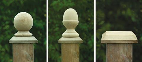 Fencing accessories - ball, acorn, post cap