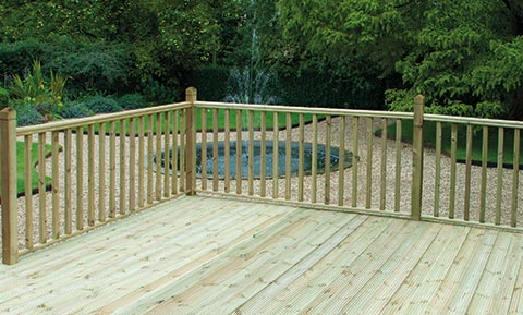 Deck boards and decking accessories - stop chamfered spindle