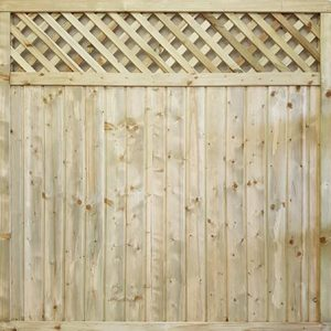 Tongue & Groove Lattice Top fence panel