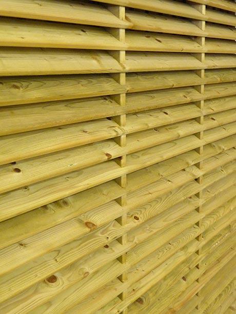 Shropshire fence panel close up