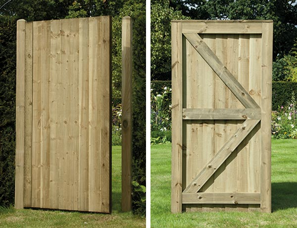 Featheredge garden gate