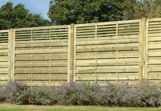 Elite slatted top fencing