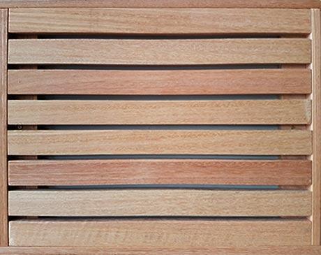 Balau fencing trellis panel