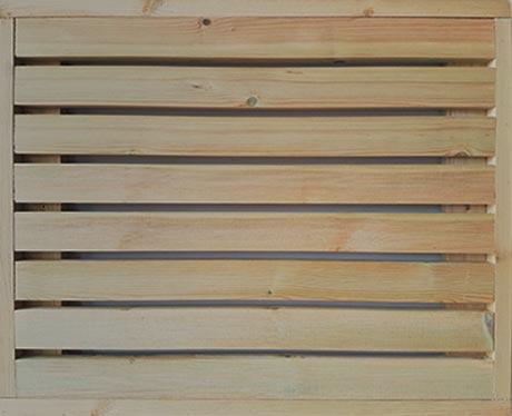 Redwood fencing trellis panel