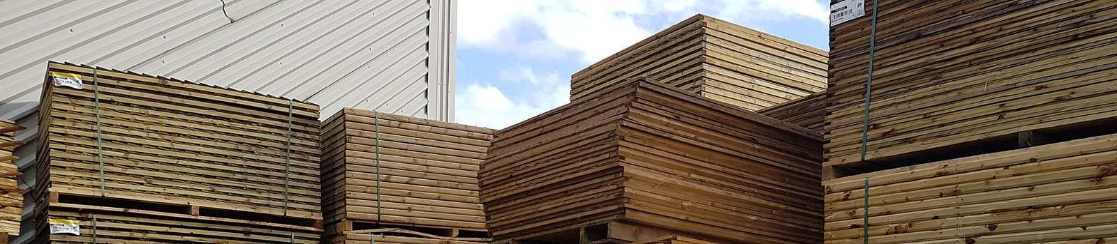 Timber yard fencing