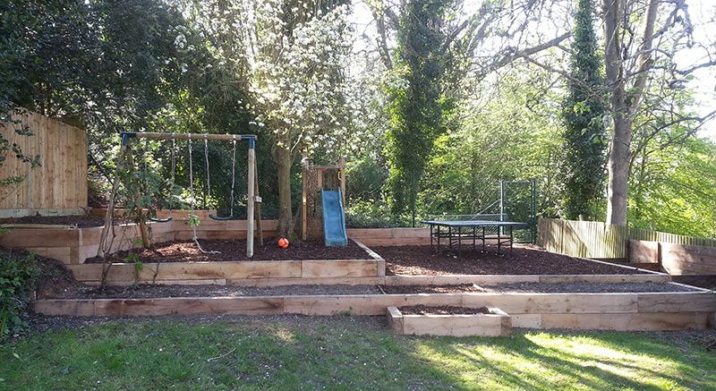 Green oak sleepers softwood timber