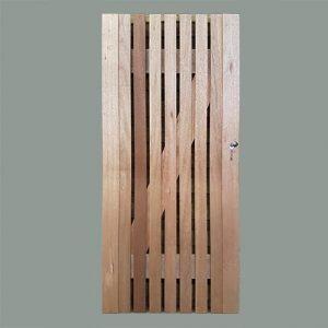 Meranti timber gate