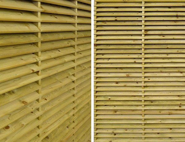 Louvred Shropshire fencing panels