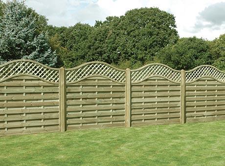 Fencing - Omega lattice top panel