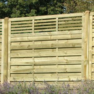 Elite slatted top fence panel