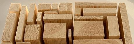 Planed square edge timber