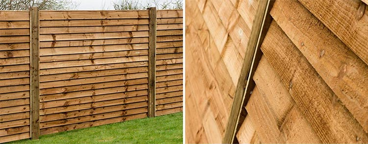 Acoustic fence panels - 2 views