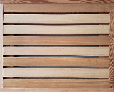 Cedar fencing trellis panel