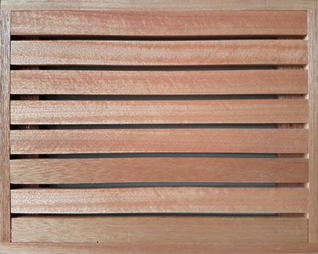 Meranti fencing trellis panel