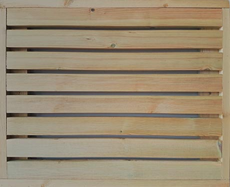 Redwood fencing trellis panel
