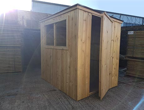 Shed made with pressure treated timber and v-joint cladding
