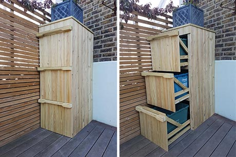 Timber recycling boxes