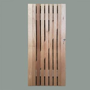 Meranti timber gate