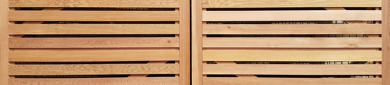 Cedar timber gate
