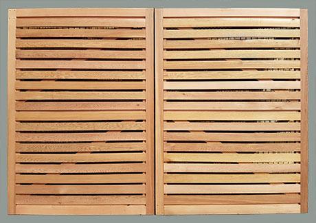 Cedar double gate