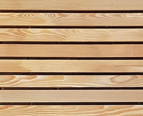 Larch timber trellis