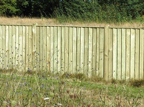 Closeboard fencing panel (front)