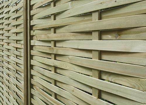 Premium Woven fencing panel closeup