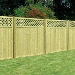 Tongue & Groove lattice top decorative fencing