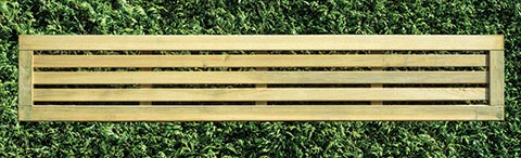Slatted fence panel 30cm