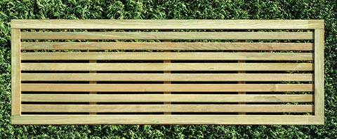 Slatted fence panel 60cm