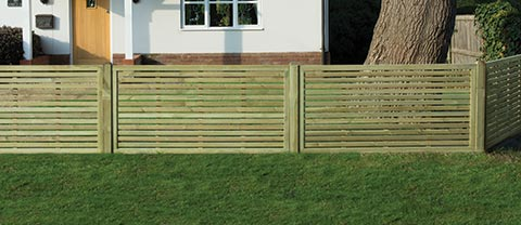 Slatted fence panel 1.5m
