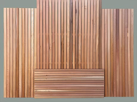 Cedar panels including fencing