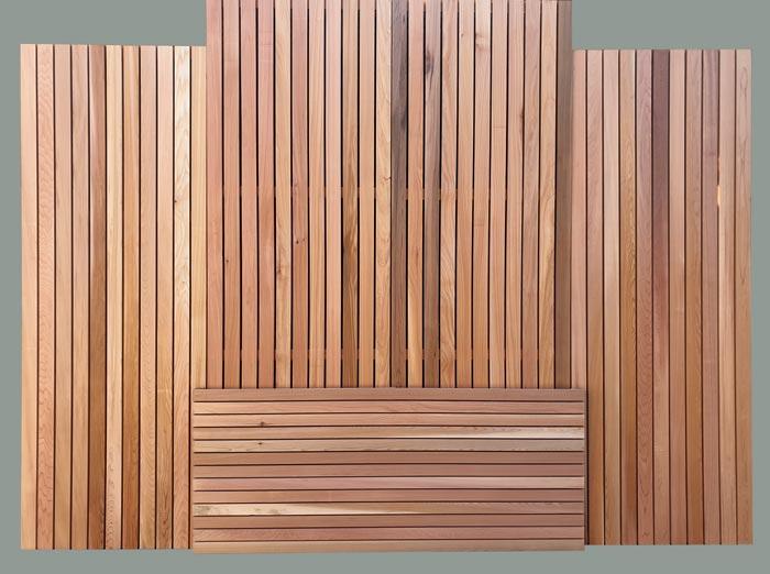 Cedar panels including fencing